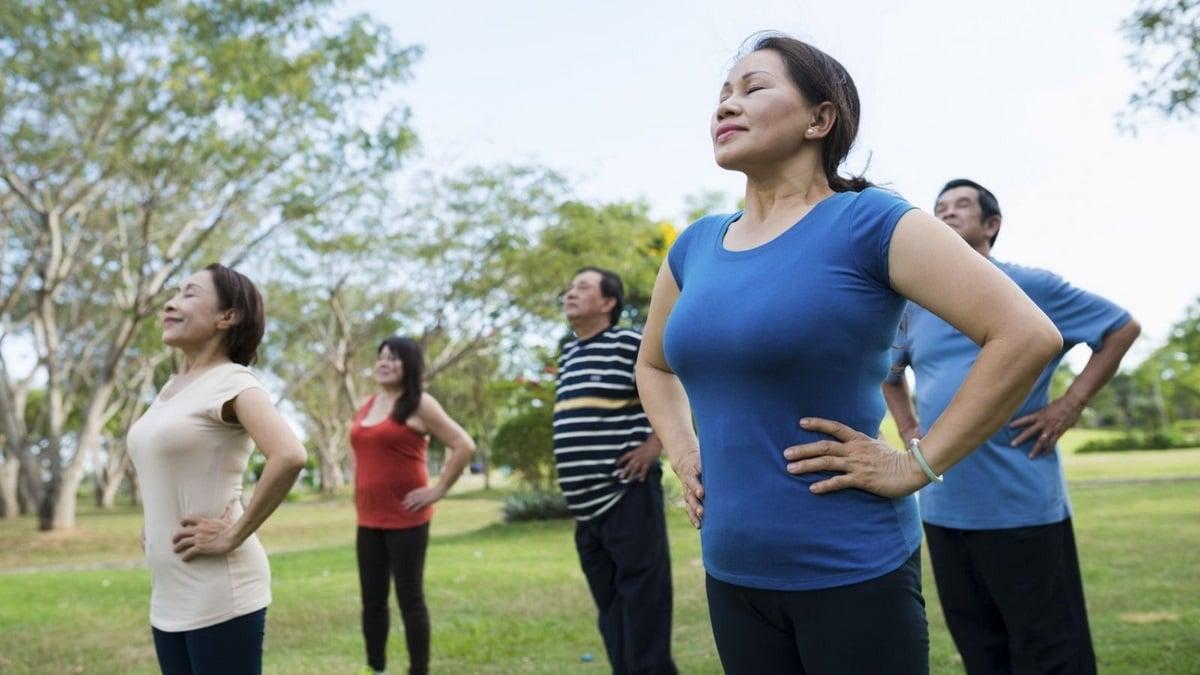Dechová cvičení pro seniory